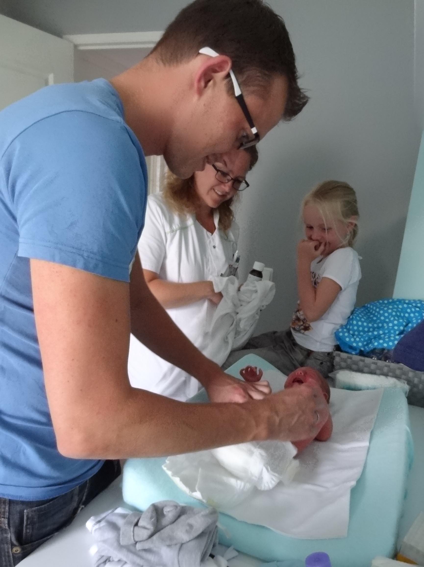 Papa's krijgen instructie